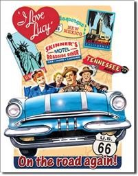 1378 LUCY ON THE ROAD TIN SIGN DSPRT