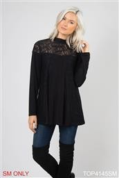 TOP4145Z XXL FF LACE OVERLAY TOP  NOELLE