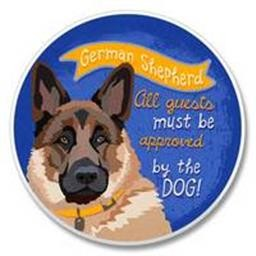 03-00215 GERMAN SHEPHERD CAR COASTER HIGHL