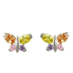 LEP8462SLM MULTICOLOR BUTTERFLY EARRING BLUEL
