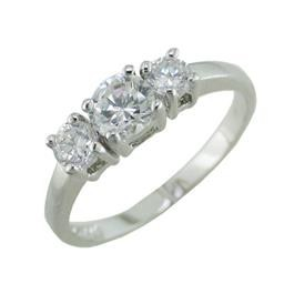 LD21182W SIZE 7 THREE STONE RING LAMAR