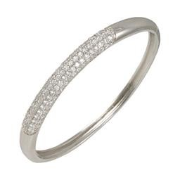 LBA8487S BANGLE WITH CENTER CZ STRIP BLUEL
