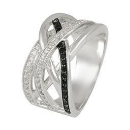 LR8925SWJ-10 SIZE 10 - CRISSCROSS RING WITH JET BLUEL