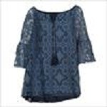 32286 LACE TOP - NAVY HOWARDS