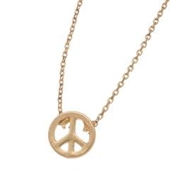 45121/5 GOLD PEACE SYMBOL STUD BUDS NECKLACE HOWARDS