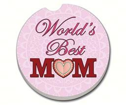 08760 WORLD'S BEST MOM PINK CAR COASTER GLDC