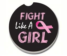 17128 FIGHT LIKE A GIRL CAR COASTER GLDC
