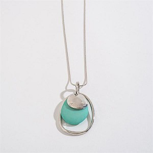 20653 DUSTY BLUE TONAL 3 ROW NECKLACE/PIERCED EARRING SET HWRDS