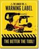 2249 WARNING LABELS TIN SIGN DSPRT