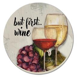 89349 WINE TIME COASTER ROUND COUNTER ART