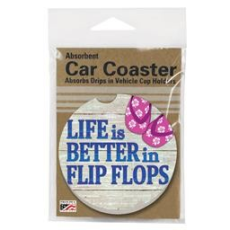 08897 BETTER IN FLIP FLOPS CAR COASTER GLDC