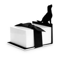 8522 DOG SILHOUETTE - STICKY NOTE STAND WELLSPRING