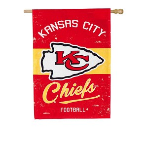 13L3815VINT KANSAS CITY CHIEFS VINTAGE LINEN HOUSE FLAG EVERG