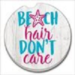 08407 BEACH HAIR CAR COASTER GLDC