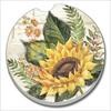 03-01526 SUNFLOWERS CAR COASTER GLDC