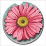 11303 BLOOMING DAISY CAR COASTER GLDC