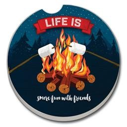 03-01392 SMORE FUN WITH FRIENDS CAR COASTER GLDC