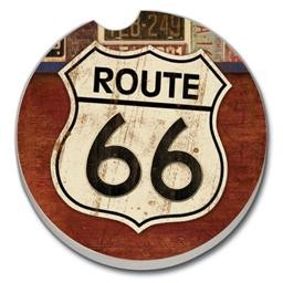 03-01329 ROUTE 66 CAR COASTER GLDC