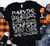 SMALL BLACK PUMPKIN AND HAYRIDES TEE CAGLE