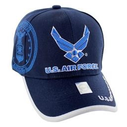 HT5384-3 US AIR FORCE LICENSED BLUE (WING LOGO) HAT R&M