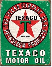 1927 TEXACO OIL WEATHERED TIN SIGN DSPRT