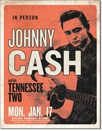 2344 CASH & HIS TENNESSEE TWO TIN SIGN DSPRT
