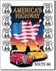 605 AMERICA'S HIGHWAY TIN SIGN DSPRT