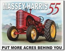 1168 MASSEY HARRIS - 55 TIN SIGN DSPRT